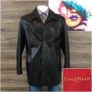Cole Haan City Men's 100% Leather Coat Jacket